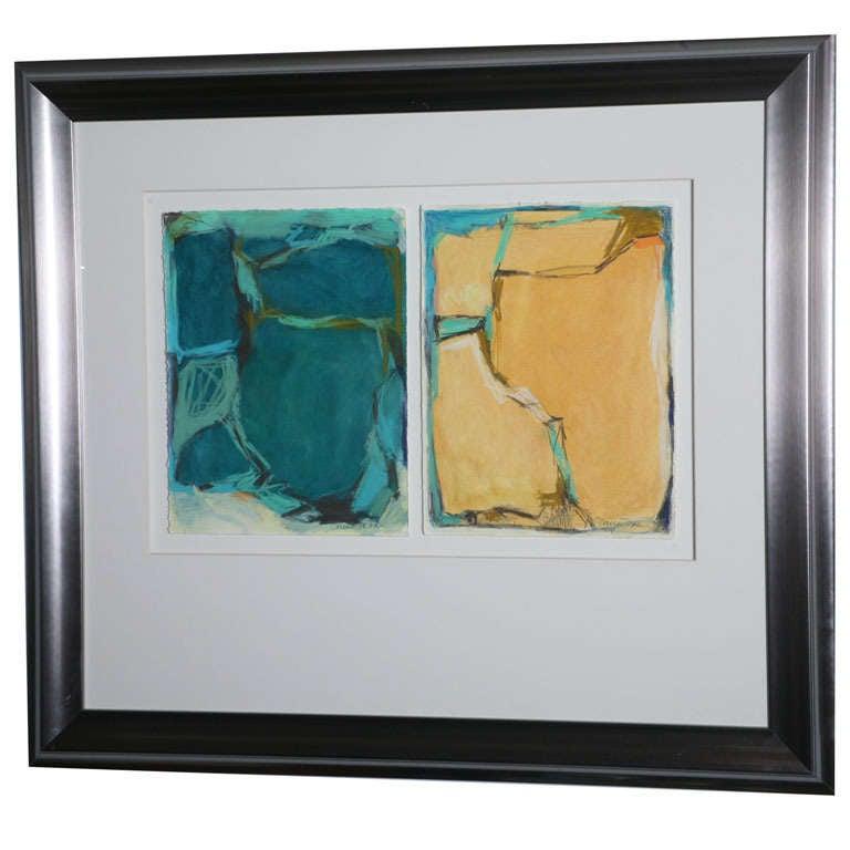Doreen Noar, Oil on Paper, Diptych