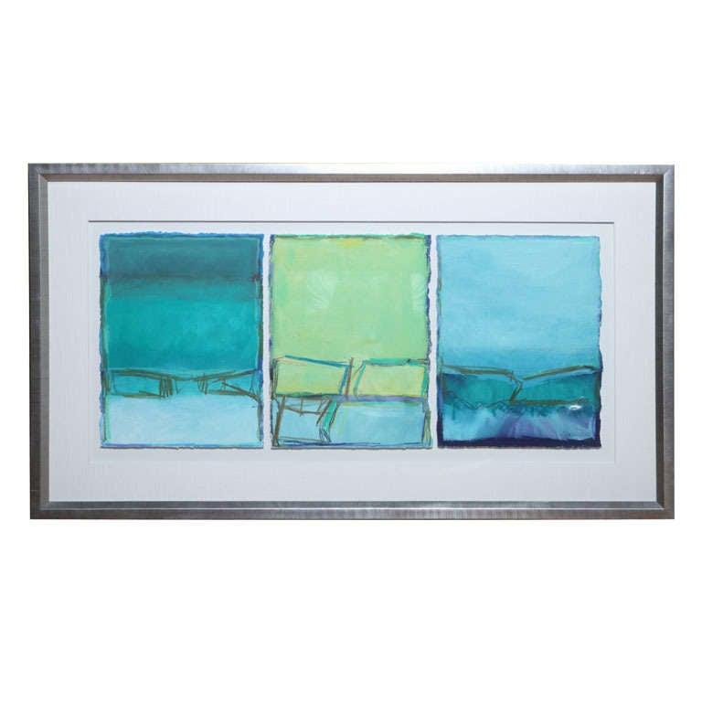 Doreen Noar Triptych - Oil on Paper