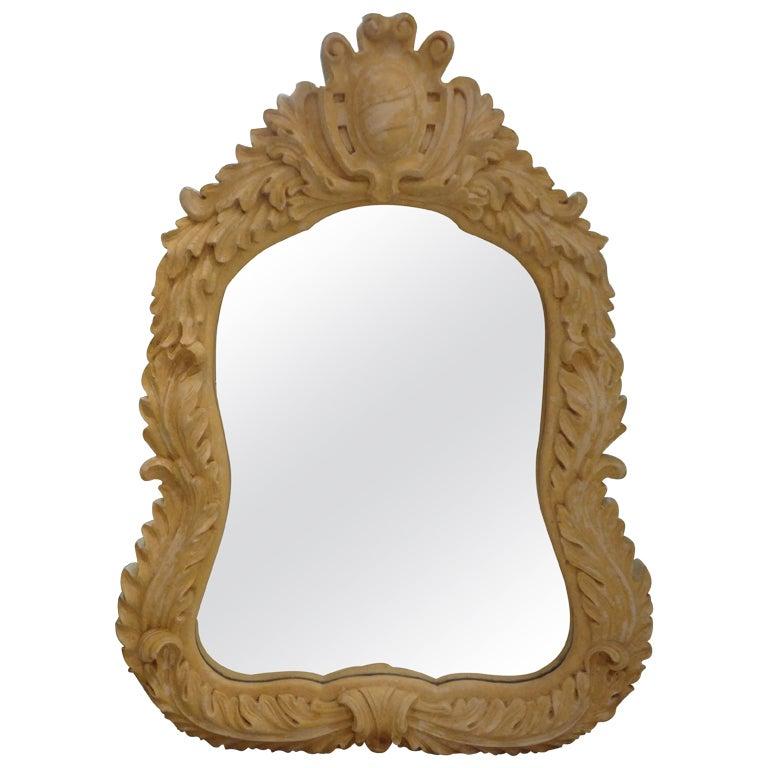 Serge Roche Inspired Plaster Shield Mirror