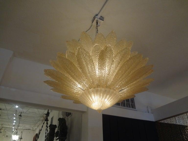 Stunning Barovier Murano Glass Chandelier 5