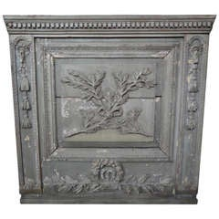 19th Century French Carved Boiserie Panel