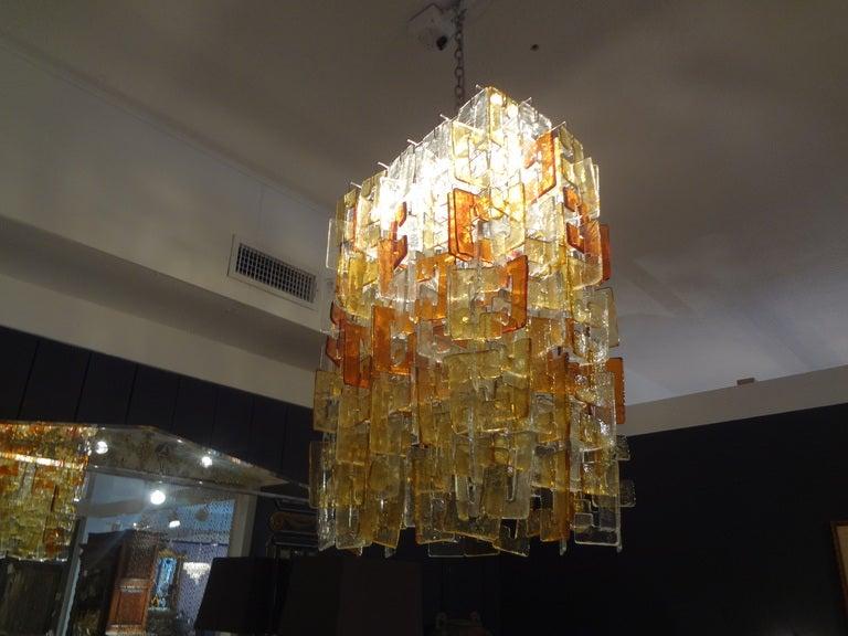 Italian Large Multicolored Murano Glass Chandelier, Carlo Nason for Mazzega For Sale