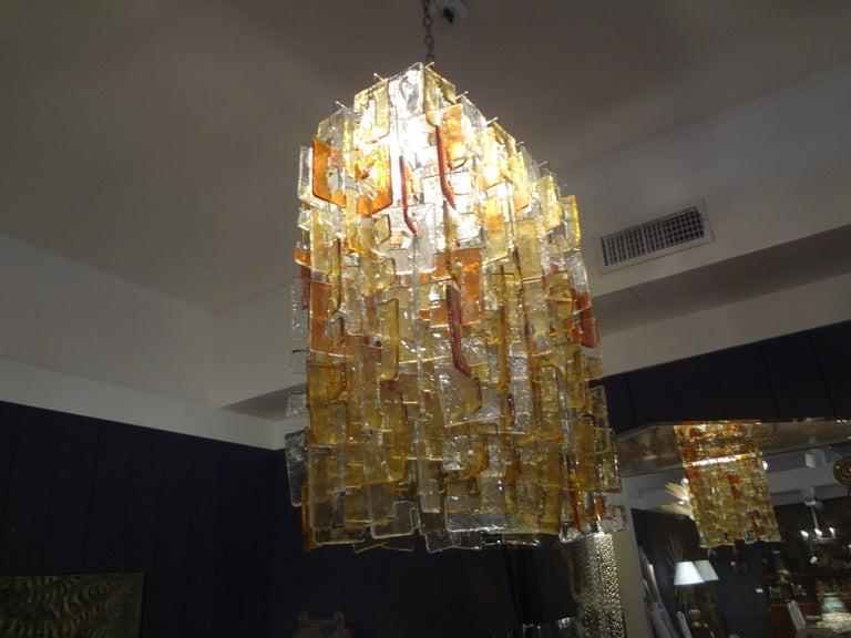 Large Multicolored Murano Glass Chandelier, Carlo Nason for Mazzega For Sale 1