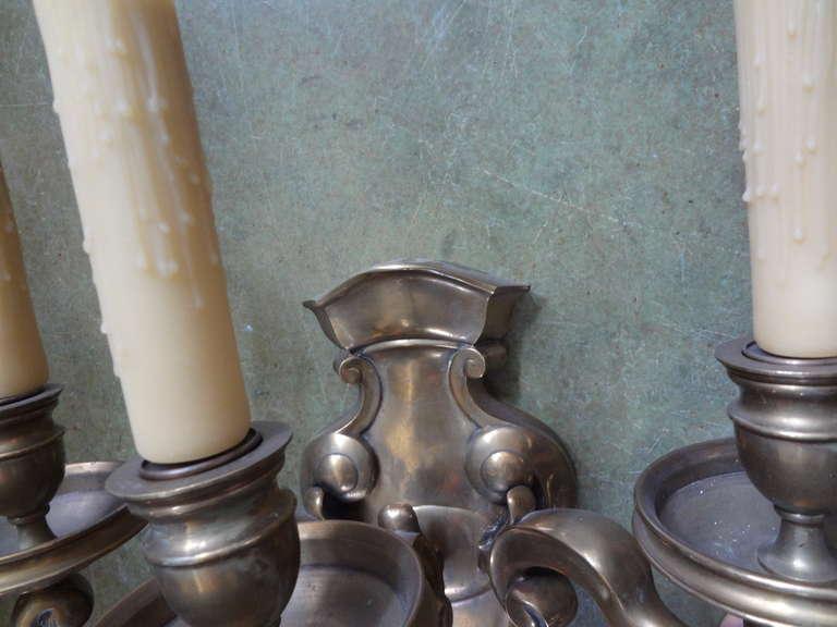 Monumental French Louis XVI Style Bronze Sconces Maison Baguès Attributed For Sale 3