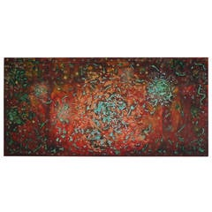 Abstract Acrylic Painting on Canvas by Javier Barrionuevo
