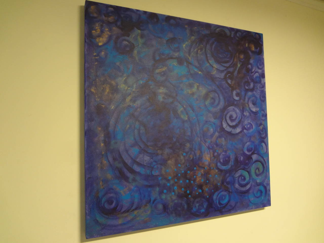 Abstract painting on canvas (Title: Dreaming) by Madrid Artist, Javier Barrionuevo.