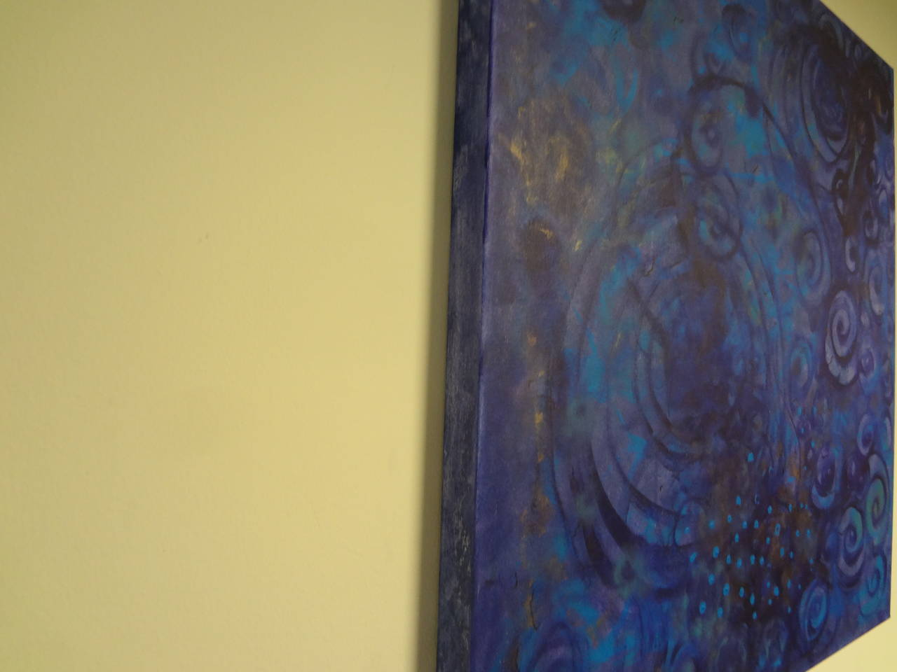 Organic Modern Abstract Acrylic on Canvas by Javier Barrionuevo For Sale