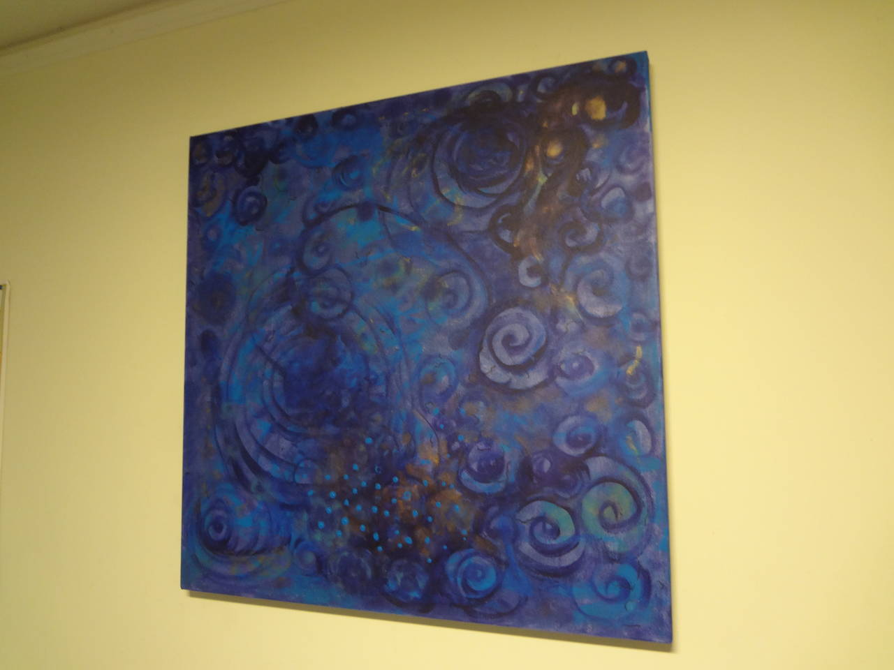 American Abstract Acrylic on Canvas by Javier Barrionuevo For Sale