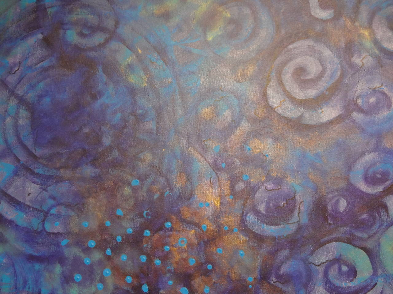 Abstract Acrylic on Canvas by Javier Barrionuevo For Sale 1