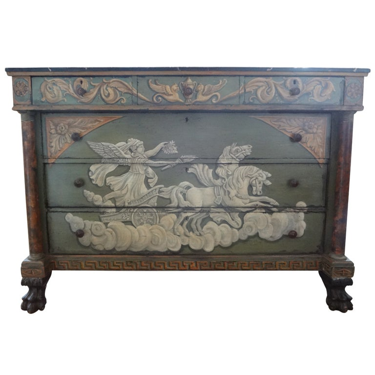 antique french neoclassical style painted commode for sale at 1stdibs. Black Bedroom Furniture Sets. Home Design Ideas