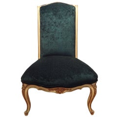 Antique French Louis XV Style Slipper Chair