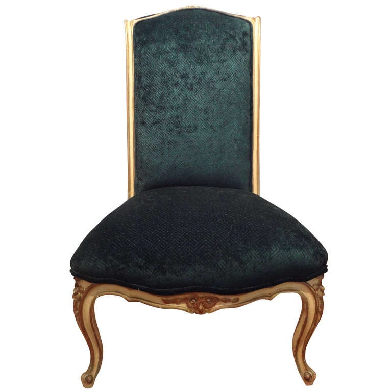 Antique French Louis XV Style Slipper Chair For Sale - Antique French Louis XV Style Slipper Chair For Sale At 1stdibs