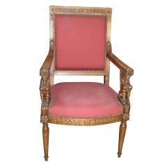 FRENCH EMPIRE STYLE FAUTEUIL