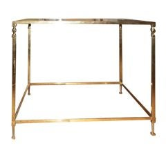 French Maison Jansen Inspired Brass Table