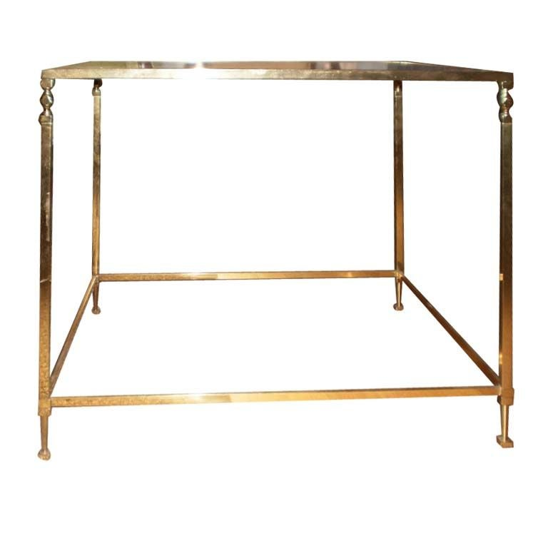 French Maison Jansen Inspired Brass Table For Sale At 1stdibs