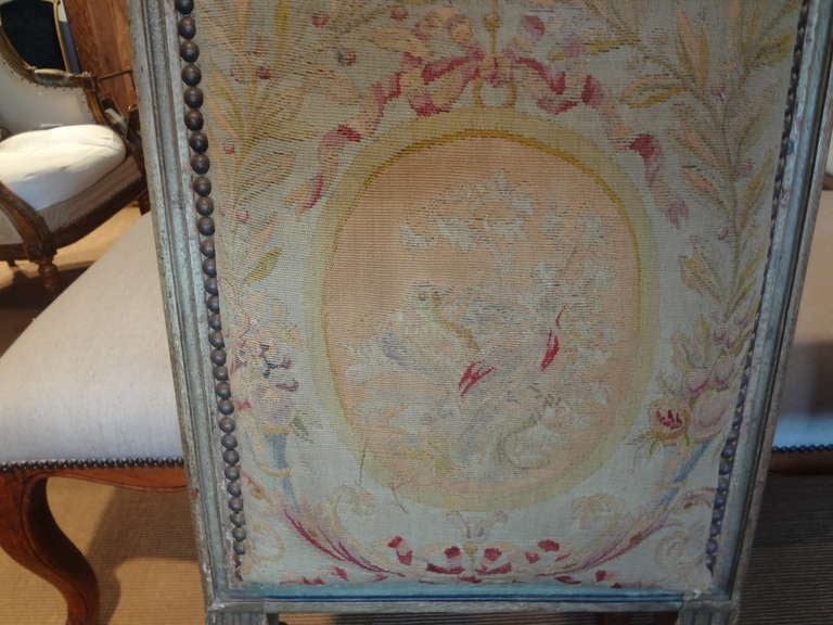 Pair of Antique French Louis XVI Side Chairs In Good Condition For Sale In Houston, TX