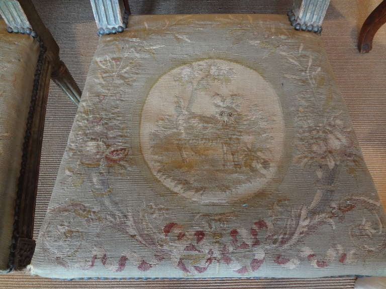 Pair of Antique French Louis XVI Side Chairs For Sale 1