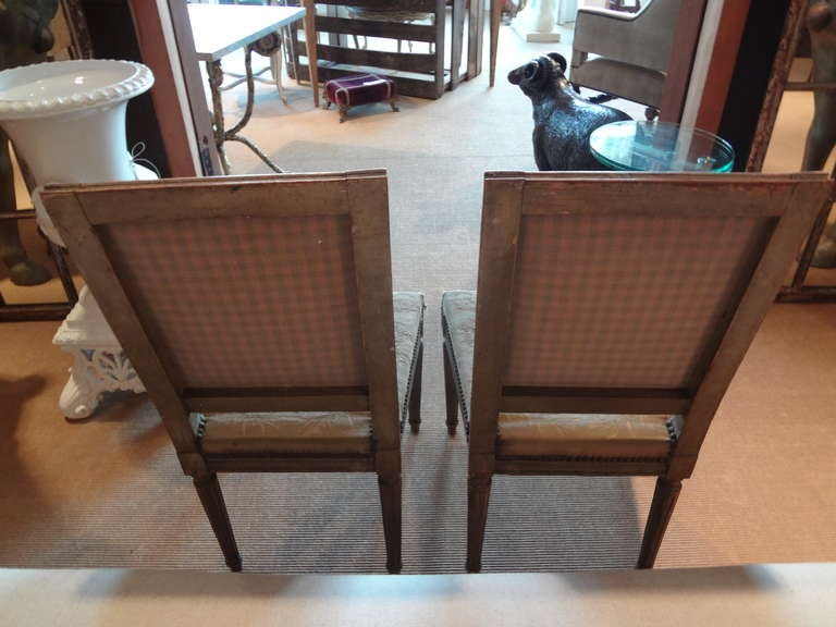Pair of Antique French Louis XVI Side Chairs For Sale 3