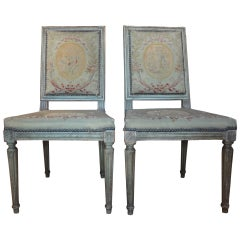 Pair of Antique French Louis XVI Side Chairs