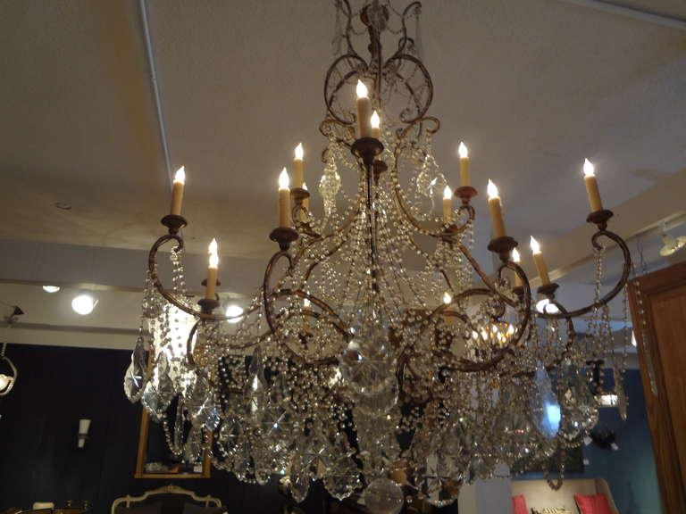 Italian Twelve Light Crystal Chandelier At 1stdibs