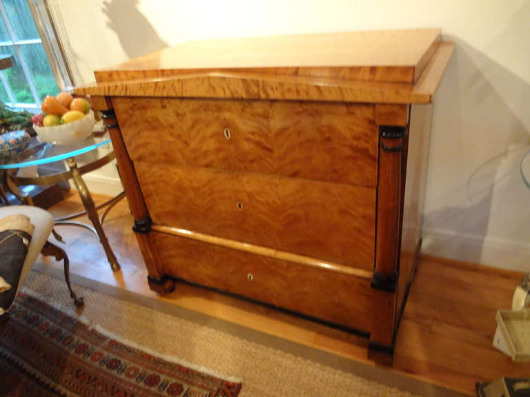 Early 19th Century Austrian Biedermeier Commode or Chest In Good Condition For Sale In Houston, TX
