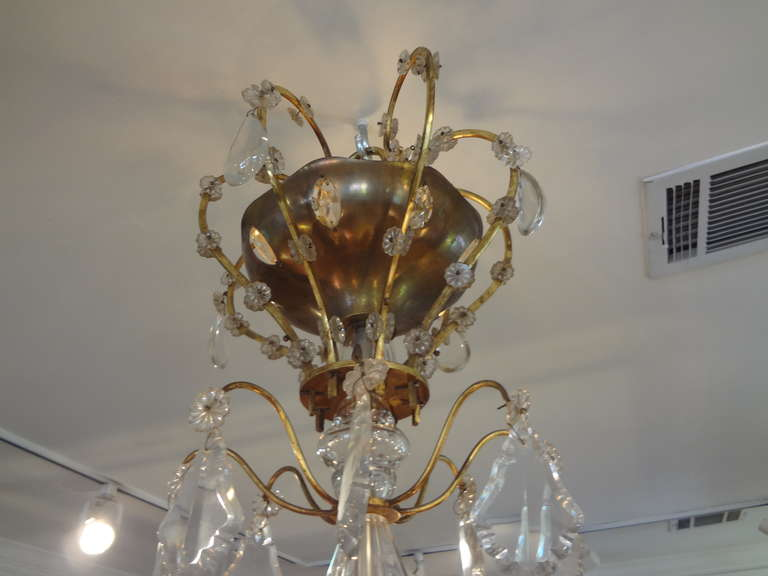 Louis XVI French Maison Baguès Style Eight-Light Crystal Chandelier For Sale