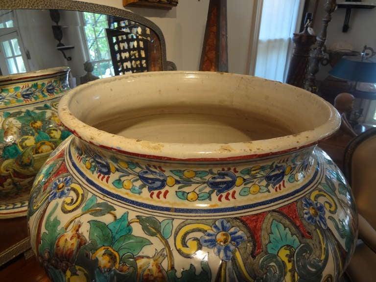 Magnificent 19th Century Italian Majolica Jardinière For Sale 2