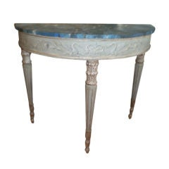 Antique Italian Neoclassical Style Painted and Silver Gilt Console Table