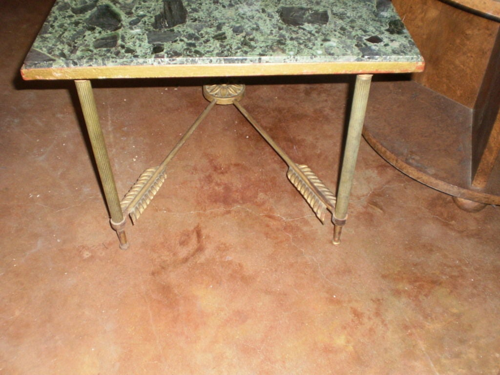 French Maison Jansen Neoclassical Style Gilt Iron Arrow Cocktail Table 1