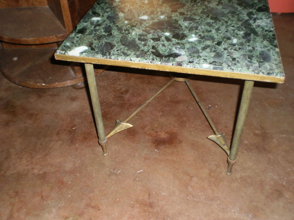 French Maison Jansen Neoclassical Style Gilt Iron Arrow Cocktail Table 2