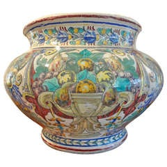 Large 19th Century Italian Majolica Jardinière