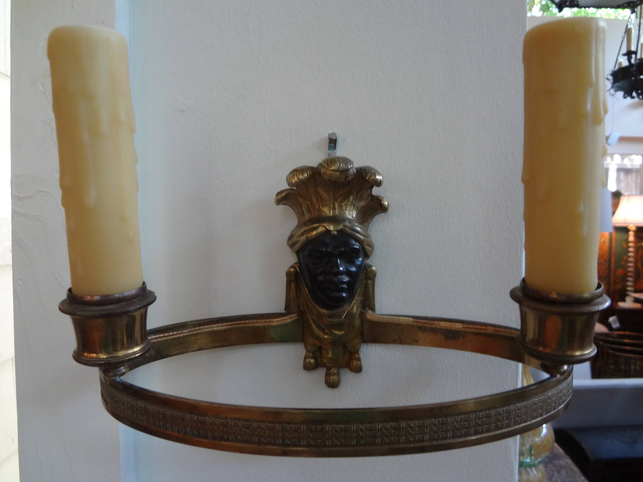 Pair of French Bronze Blackamoor Sconces at 1stdibs