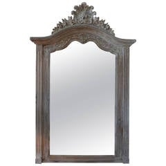 19th Century French Louis XV Style Painted Mirror