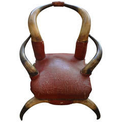 Antique Children's Horn Chair