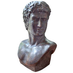 French Terra Cotta Bust of a Greek