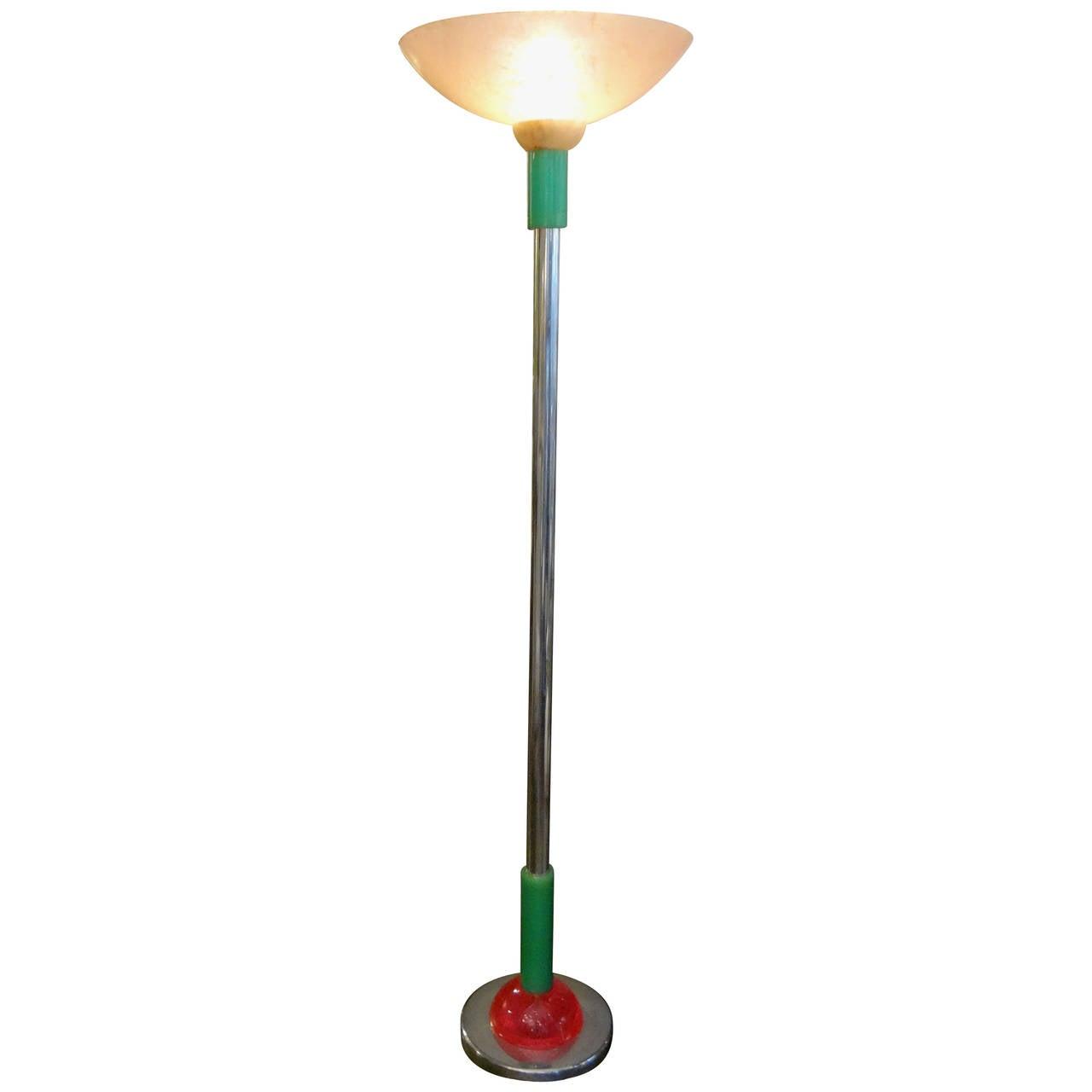 Italian Post-Modern/Mid-Century Modern Floor Lamp, Made in Milan