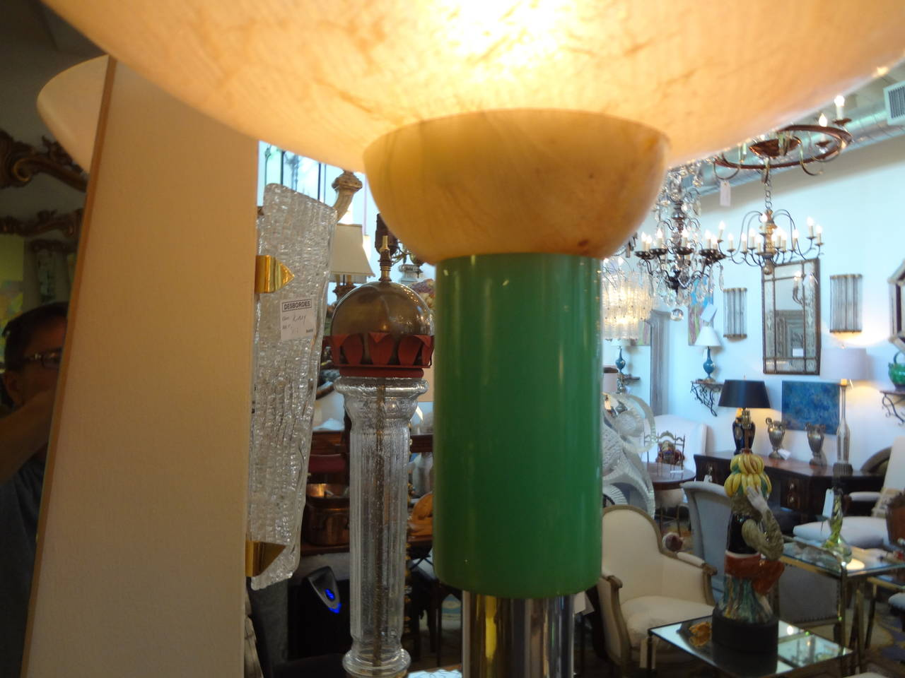 Acrylic Italian Postmodern or Mid-Century Modern Torchère Floor Lamp, Made in Milan For Sale