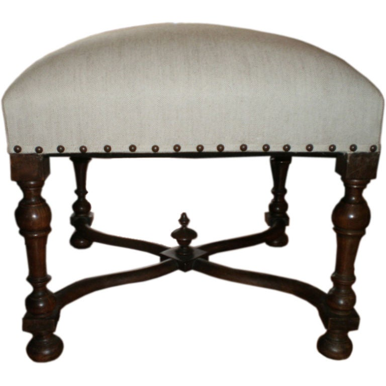 19th Century French Louis Xiii Style Tabouret Stool At 1stdibs