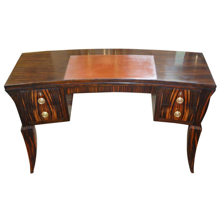 french art deco desk in macassar inspired by emile jacques ruhlmann art deco desk computer