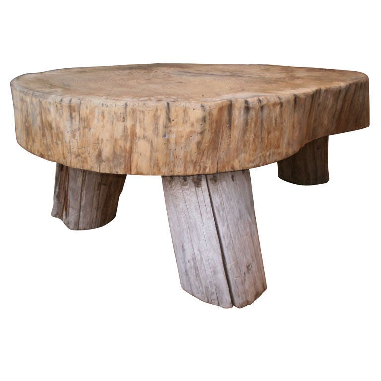 Grand Double Tree Trunk Cocktail Table At 1stdibs