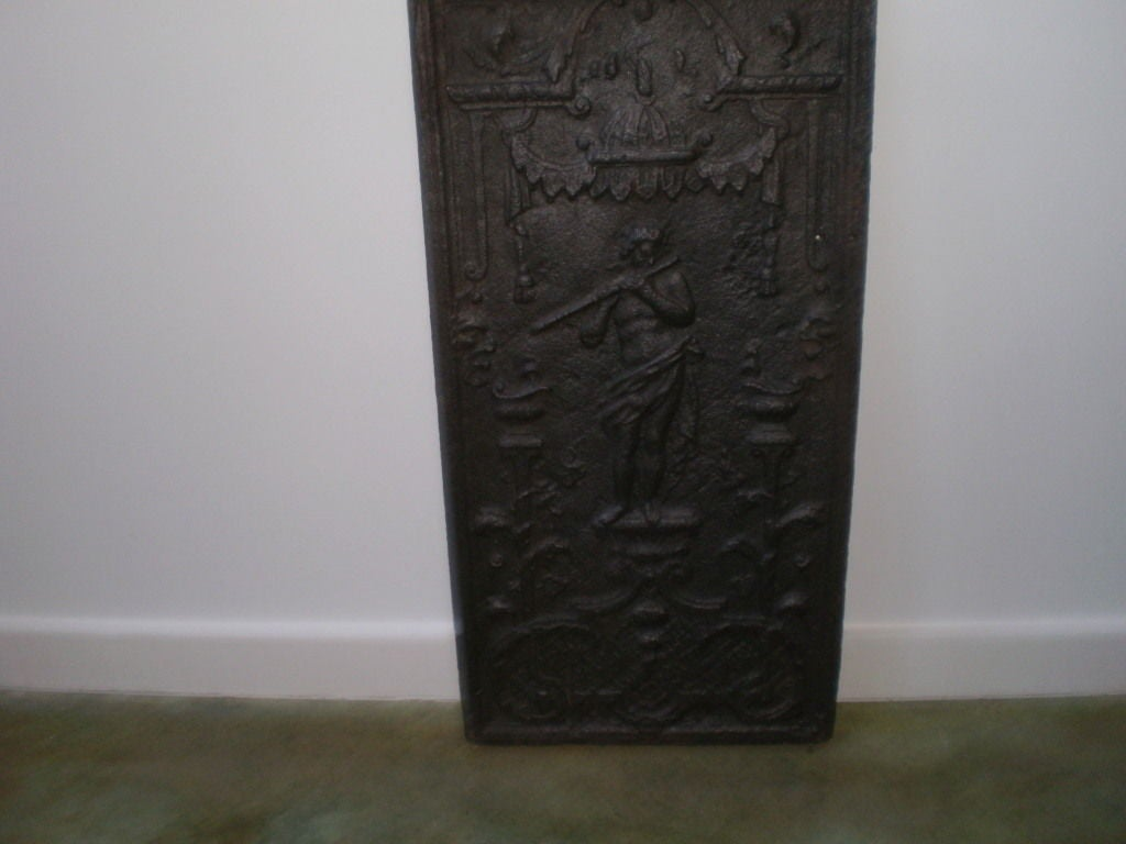 18th Century French Cast Iron Fireback For Sale 1