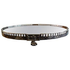 19th Century French Louis XVI Style Silver Plated Plateau