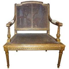 19th Century French Louis XVI Style Gilt Wood Children's Chair