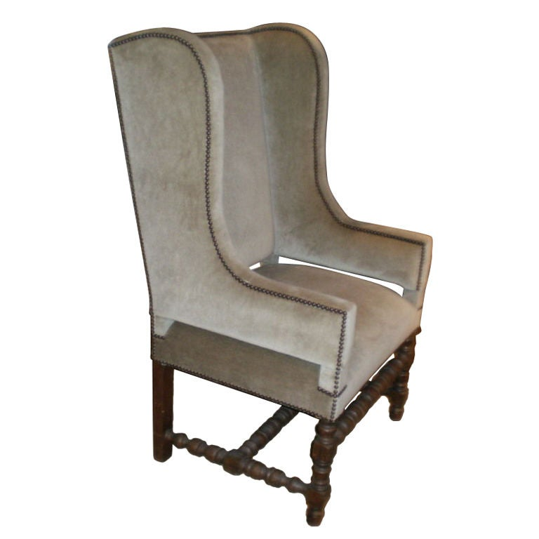 French Louis Xiii Style Chair Bergere At 1stdibs