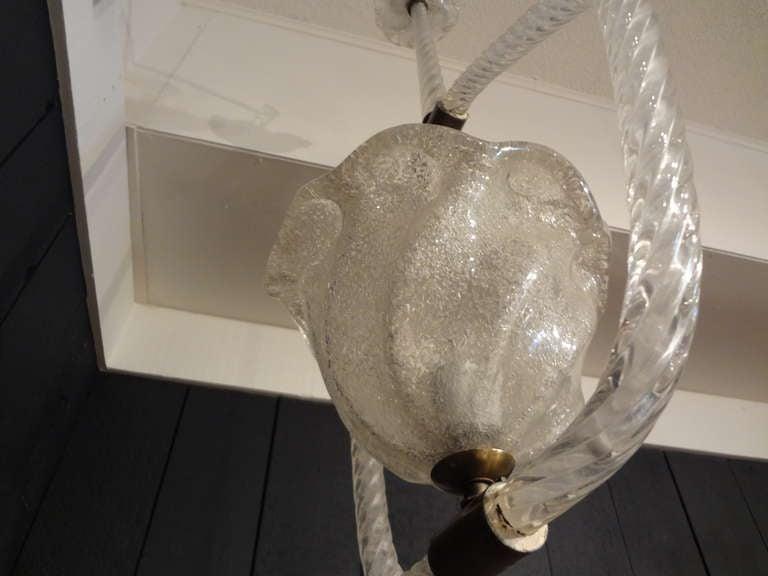 Venini Style Murano Glass and Bronze Lantern 5
