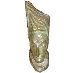 Mid Century Modern Bronze Bust by J.D. Murillo
