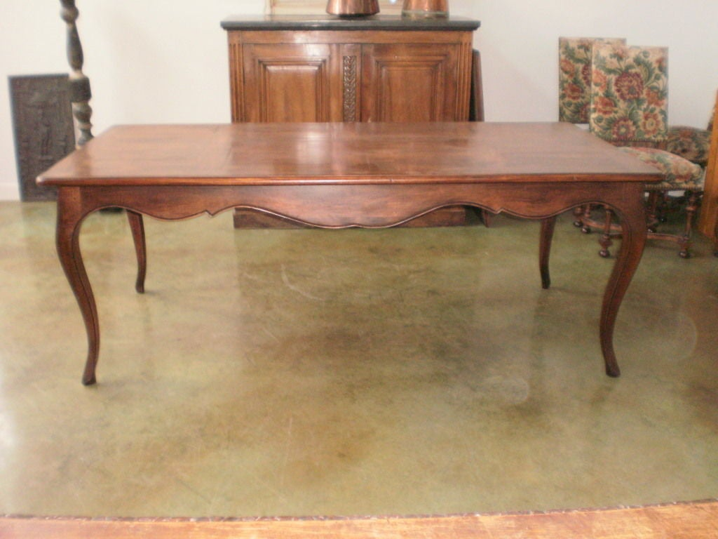 this 19th century french louis xv style walnut dining table is no