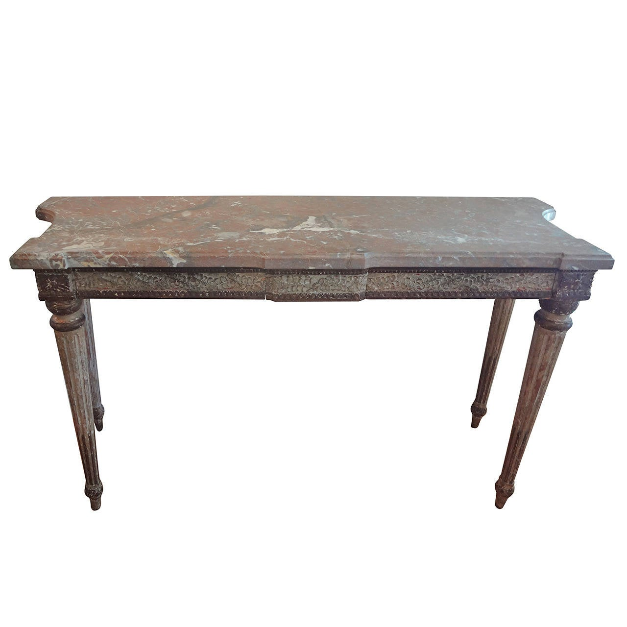 19th century italian louis xvi style console table at 1stdibs. Black Bedroom Furniture Sets. Home Design Ideas