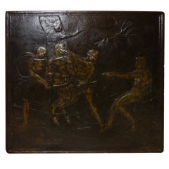 Rare Themed 18th Century French Cast Iron Fireback