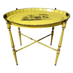 Italian Neoclassical Style Tole Tray Table